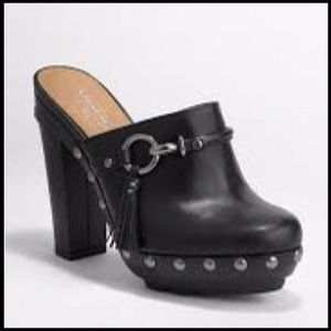 100% Authentic Coach 'Rana' Clog in Black Size 8.5